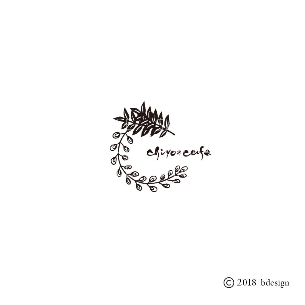 千代紙カフェのロゴサンプル2