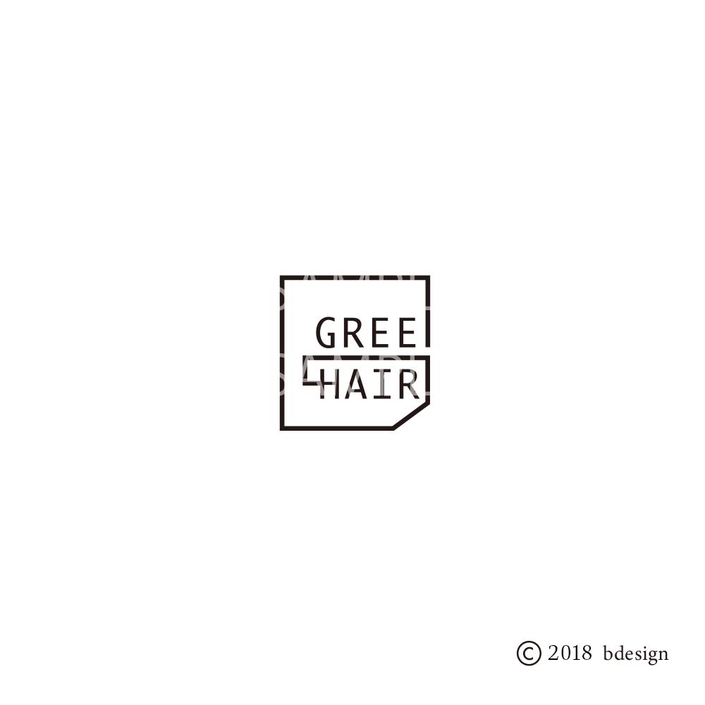 GREEDhairのロゴサンプル3