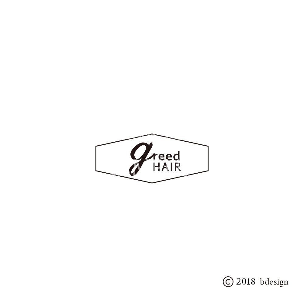 GREEDhairのロゴサンプル4