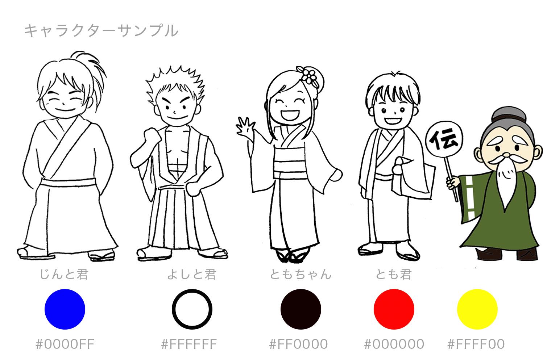 伝心会様キャラクター最終決定案